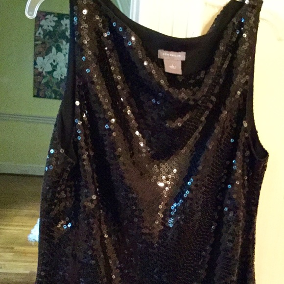 Ann Taylor Tops - Black sequins evening top Ann Taylor